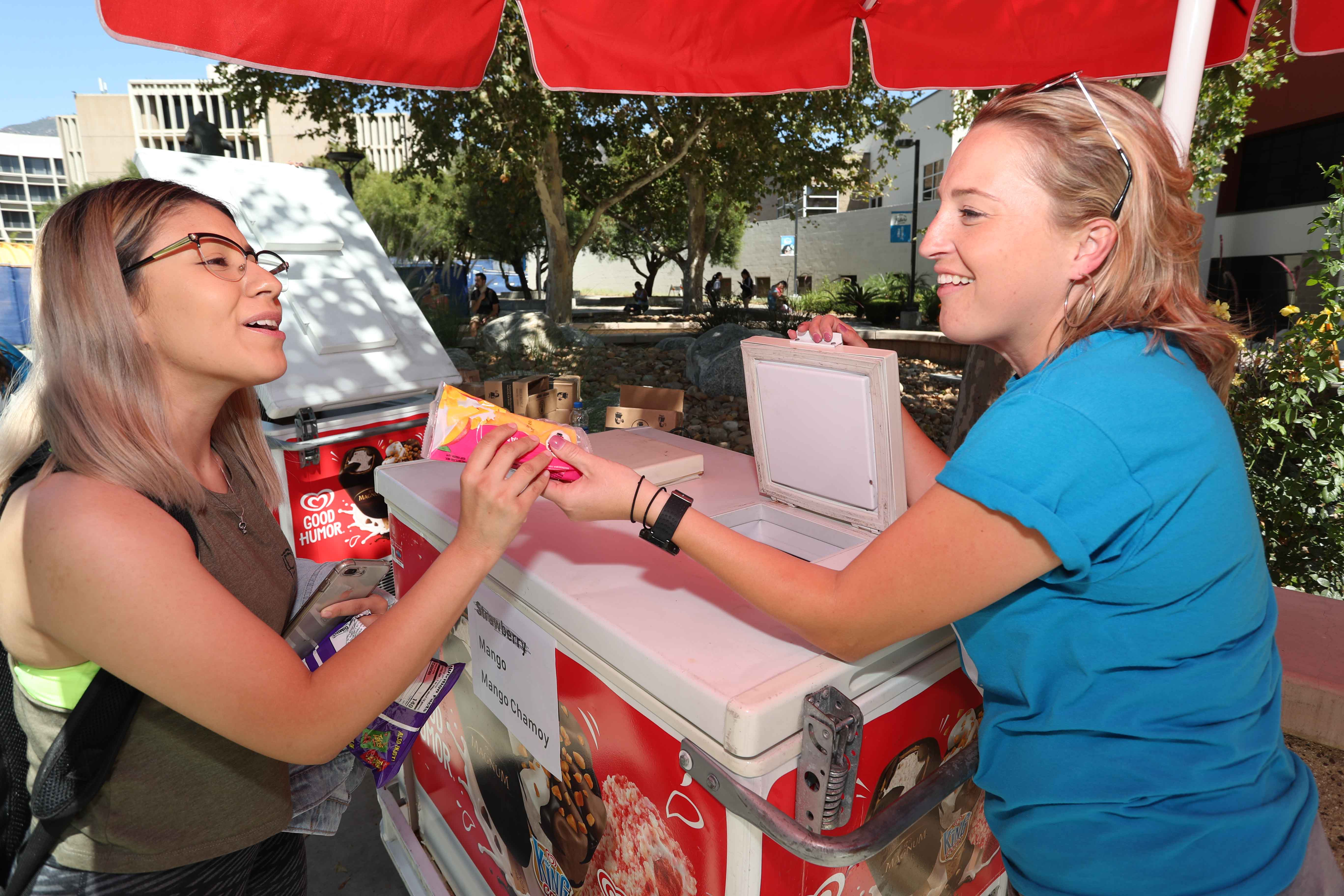 The Ask Me! campaign includes a series of information booths across campus during the first week of school to provide support, directions and answers to new and returning students.