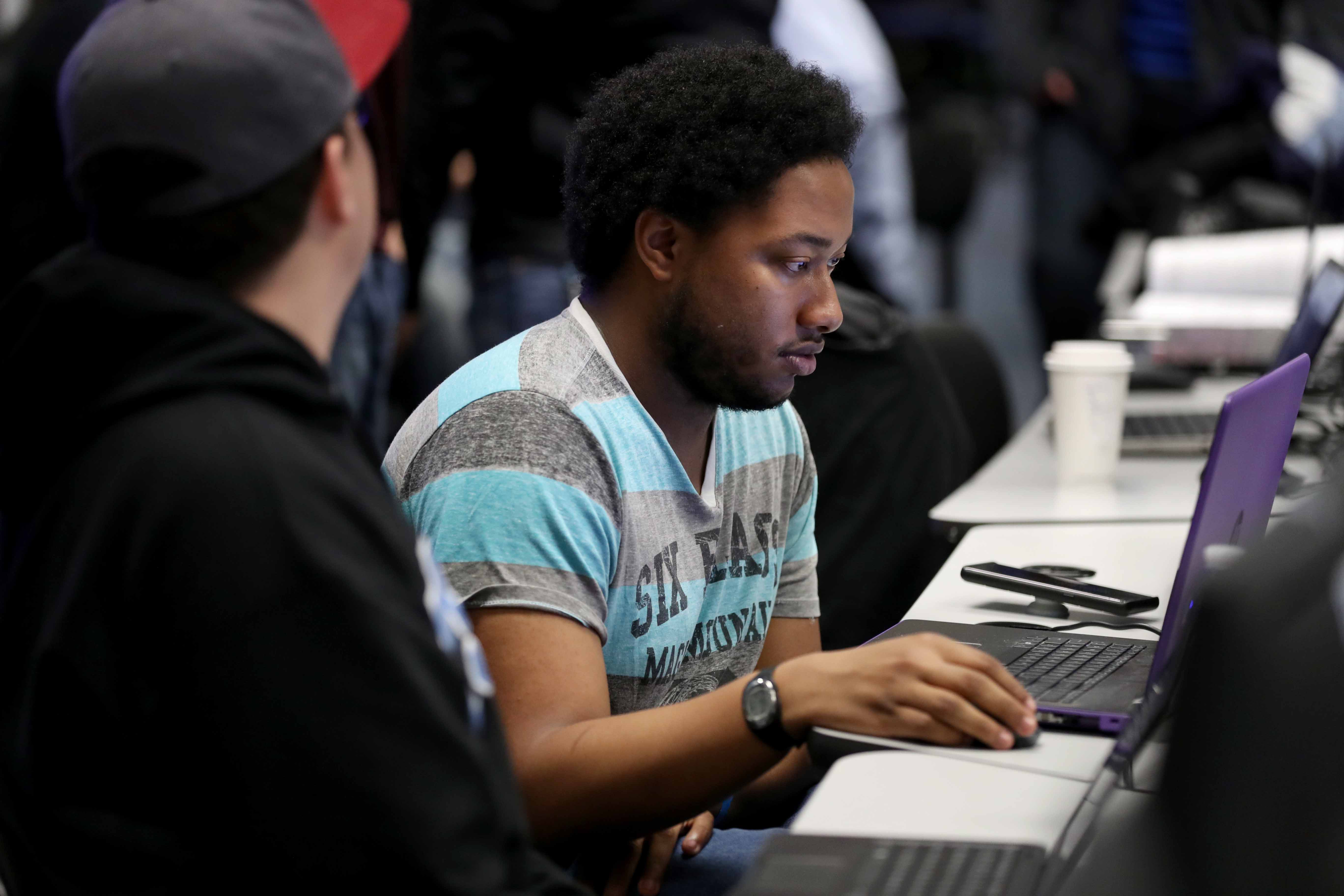 The event was a competition between teams consisting of 3-5 people who were given 15 hours to hack enough code to demonstrate Sunday morning. Each team was judged by a panel of experts.