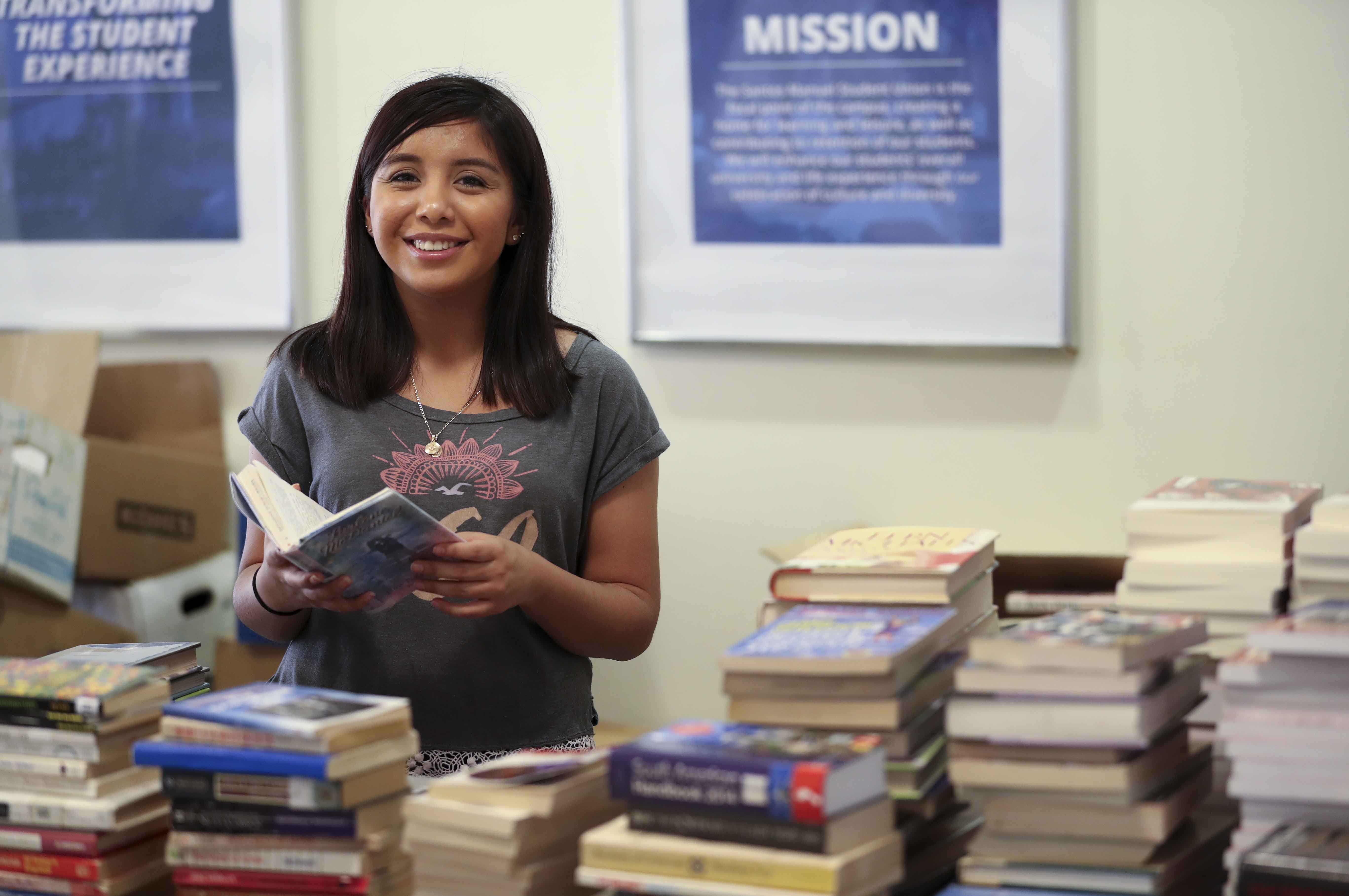 More than 5,000 books were given away to children and young adults.