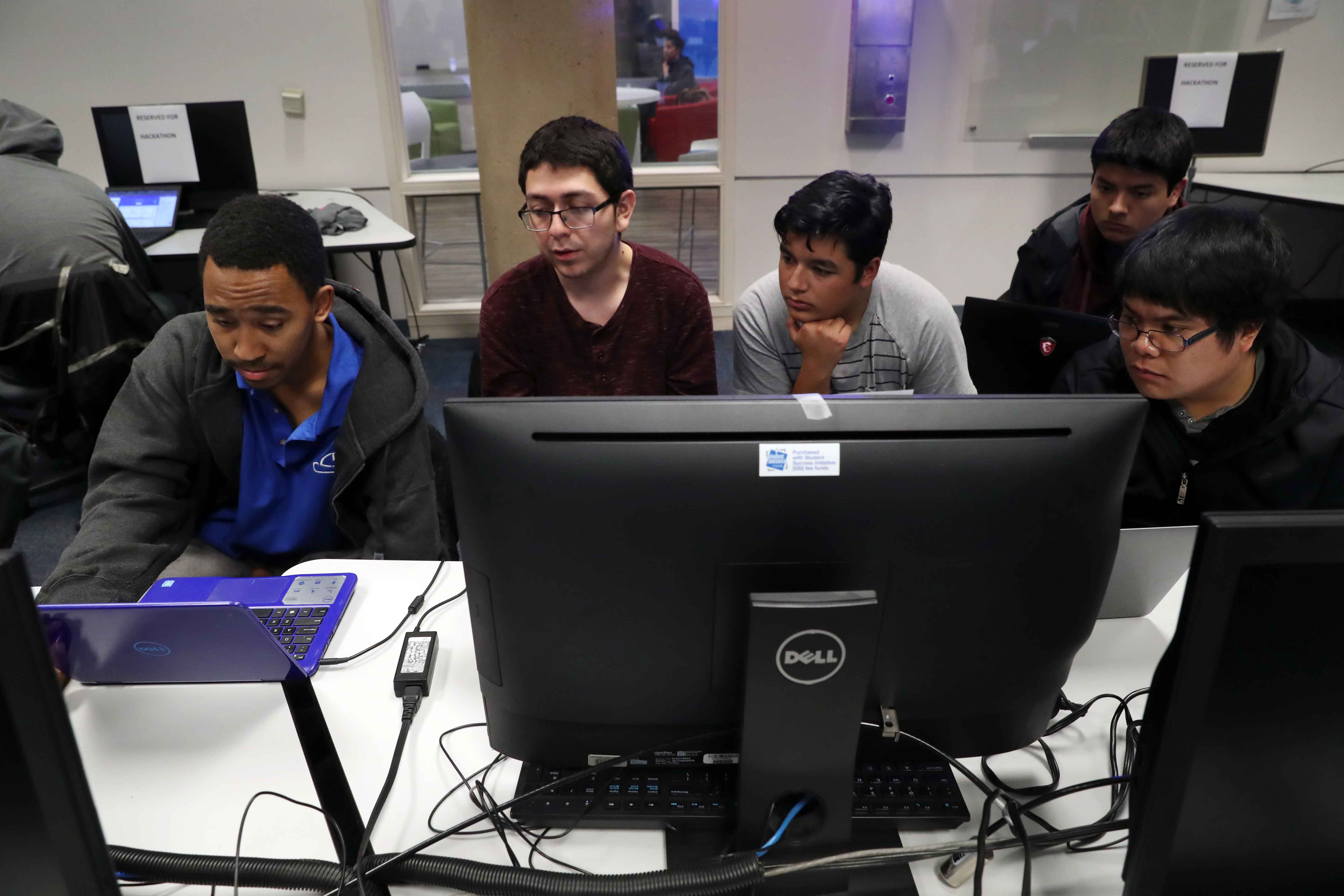 The hackathon was sponsored by the Institute of Electrical and Electronics Engineers (IEEE) foothill section, Google, CSUSB Associated Students Inc. (ASI), the university's Computer Science and Engineering Club (CSE), as well as Information Technology Ser