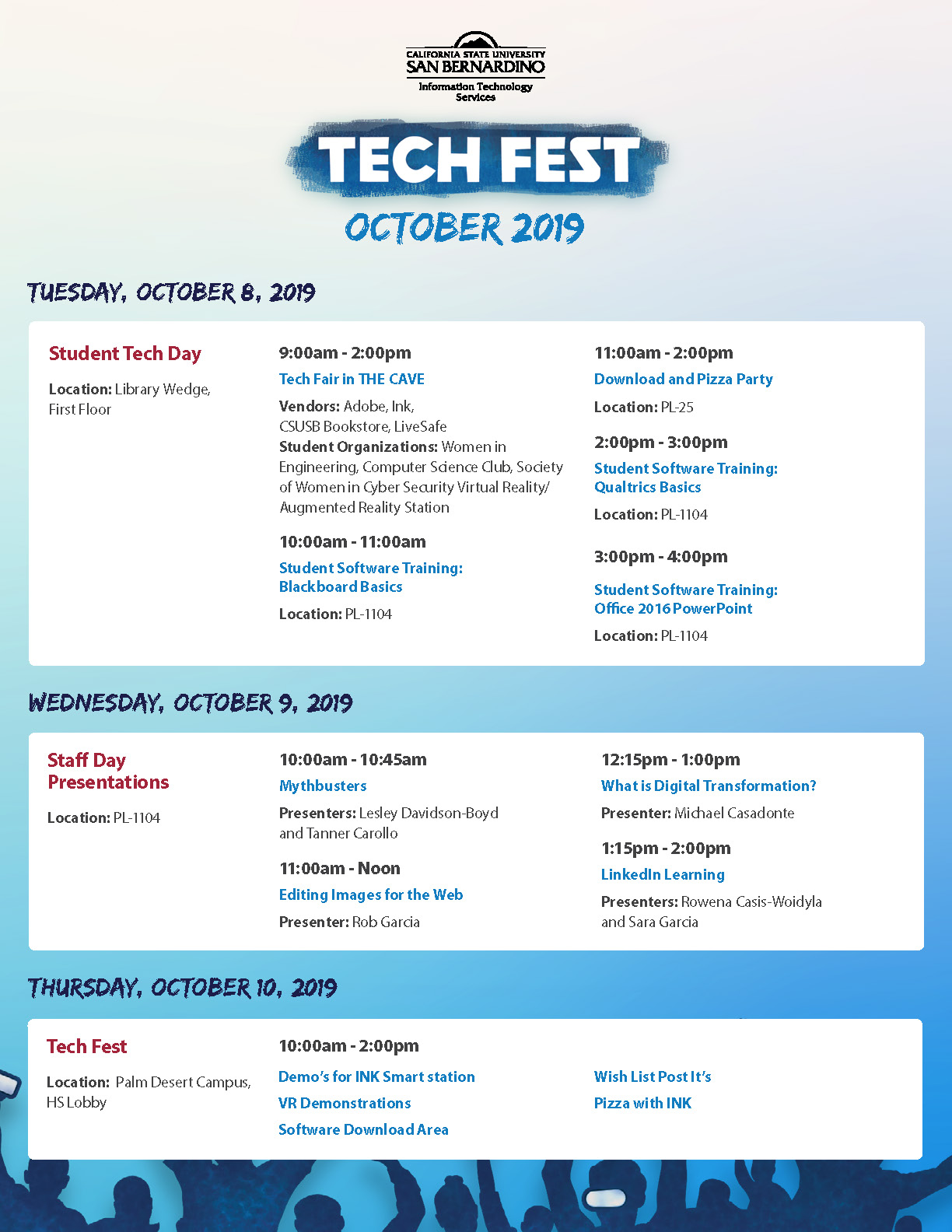 ITS Tech Fair flier, page 1