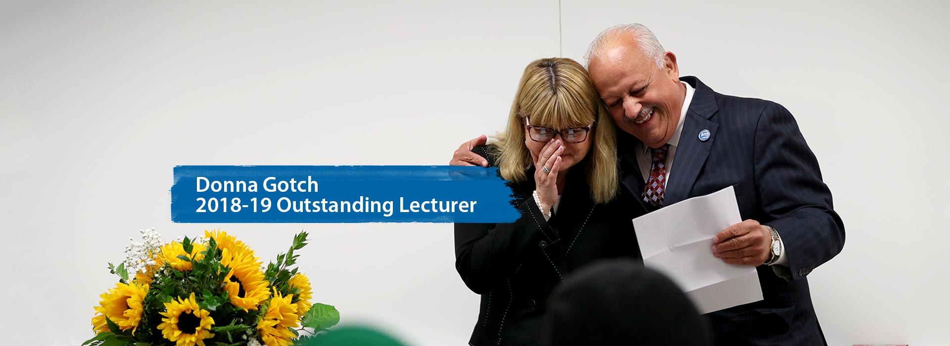 Communication studies instructor surprised with Outstanding Lecturer Award