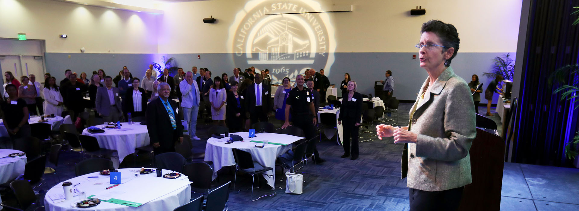 Kathy Obear leads Collegiality Forum at CSUSB