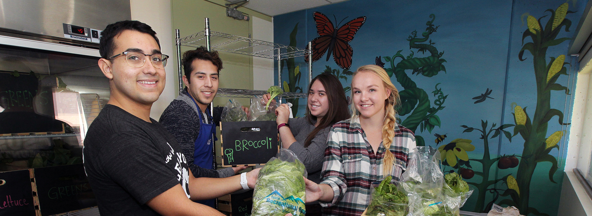 CSUSB Community Garden's second harvest benefits The Obershaw DEN Food Pantry