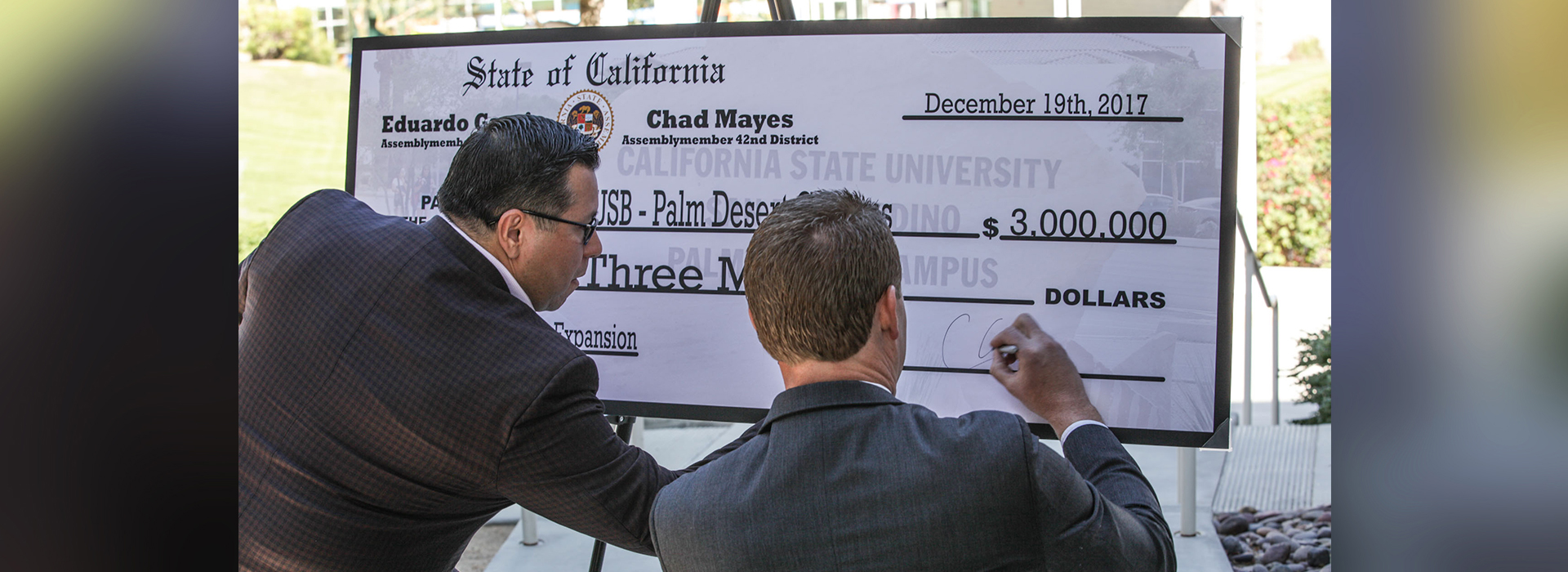CSUSB Palm Desert Campus formally receives $3 million commitment from the state