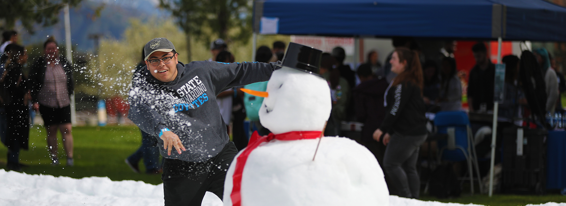 Annual Snow Day at CSUSB attracts students, faculty and staff