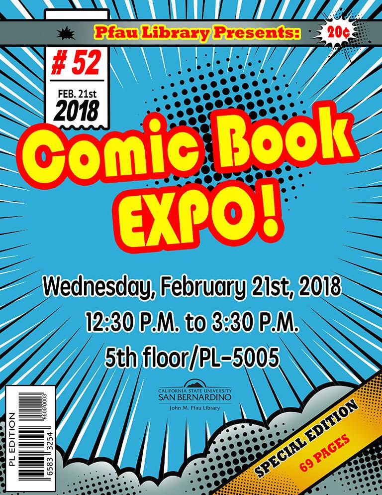 CSUSB Pfau Library hosts comic book expo this month
