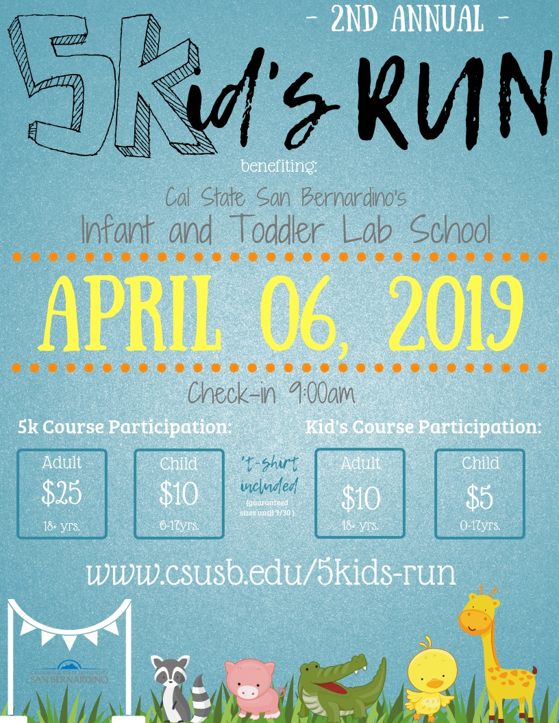 CSUSB's 5Kid's Run to benefit Infant and Toddler Lab School