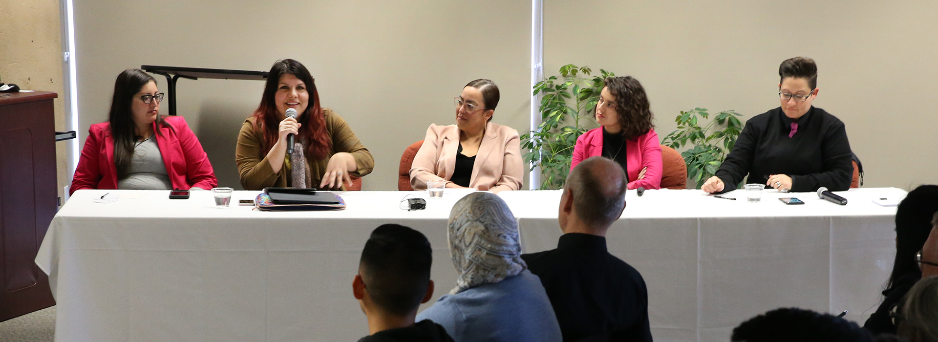 Members of CSUSB's Women of Color in Academia present published work