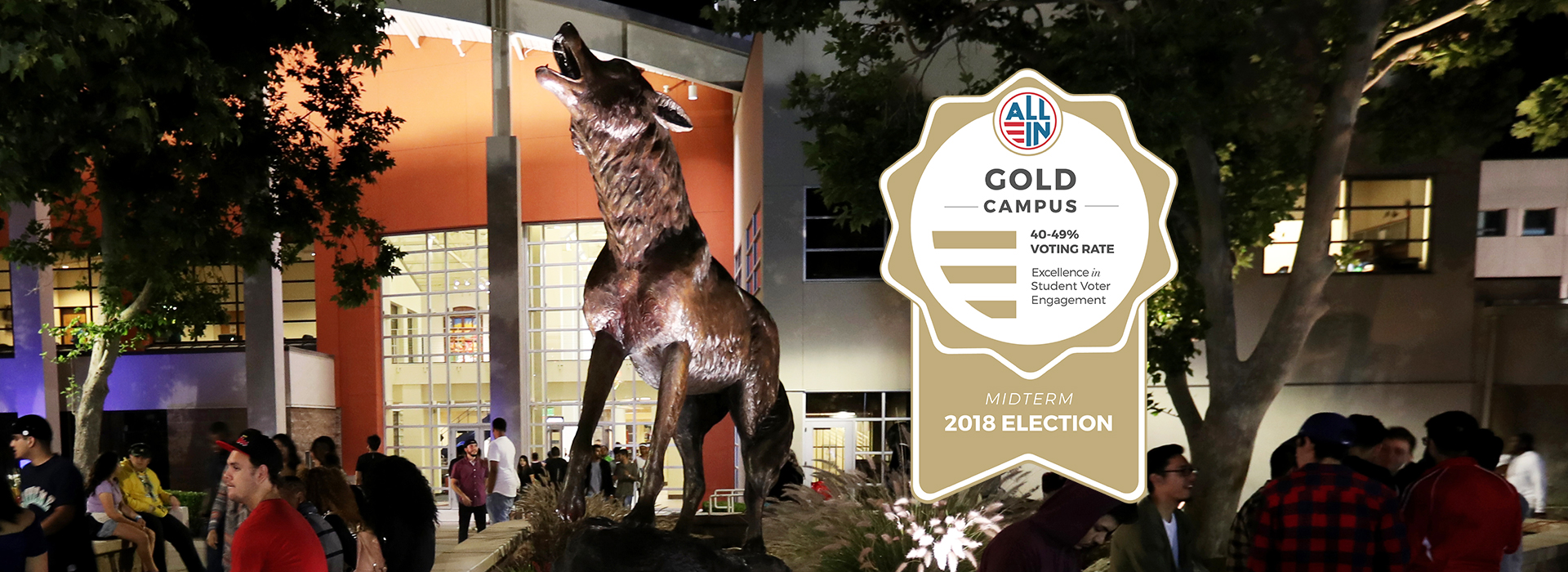 CSUSB given gold seal for excellence in student voter engagement
