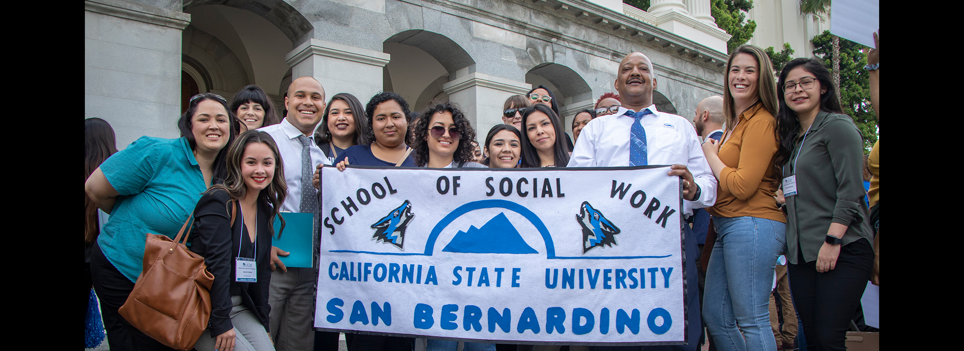 CSUSB School of Social Work students visit Sacramento, meet with lawmakers