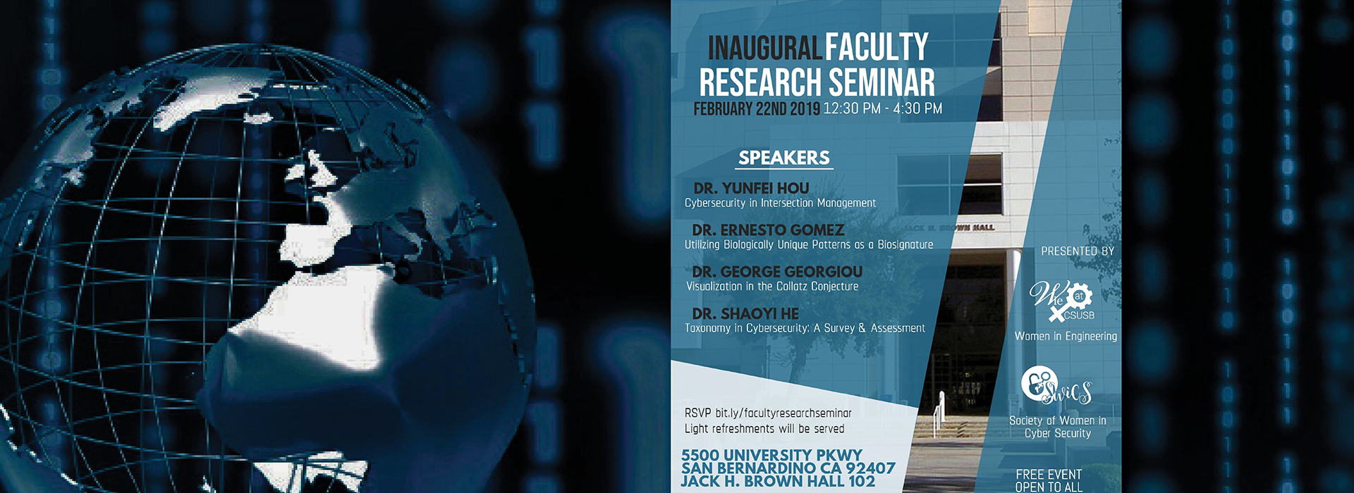Inaugural CSUSB Faculty Research Seminar set for Friday, Feb. 22
