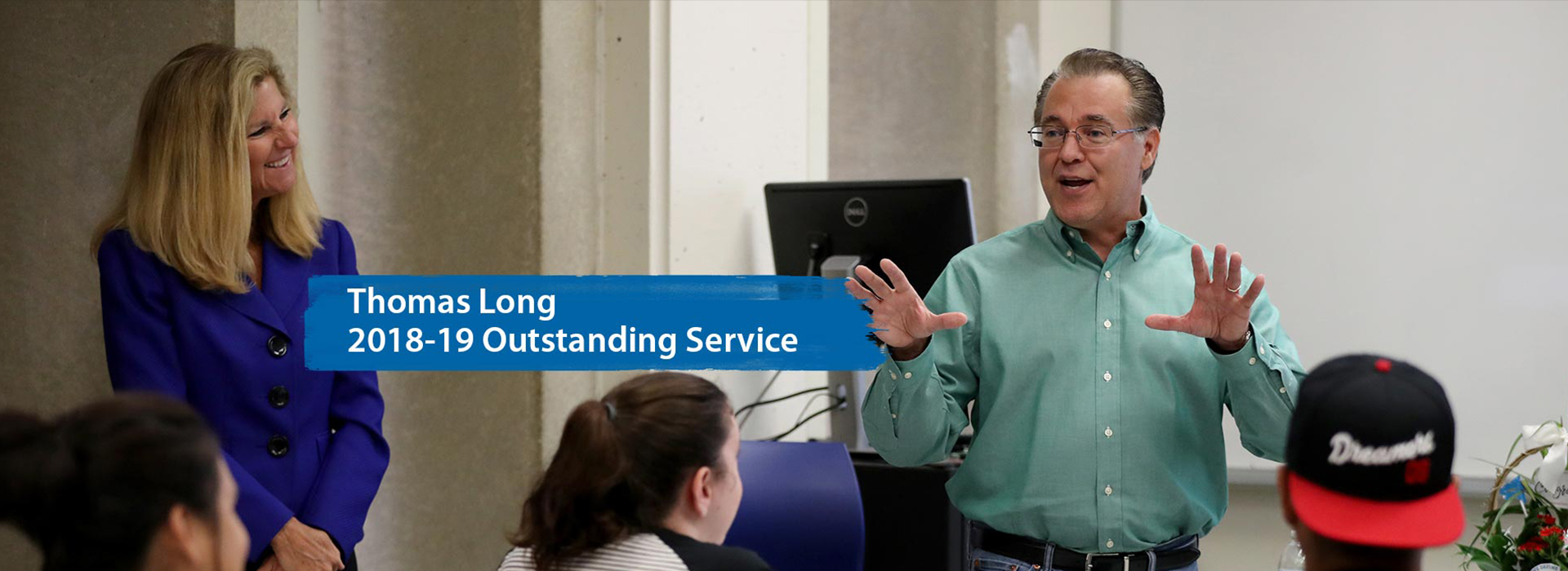 History professor surprised with the news of winning CSUSB Outstanding Service Award