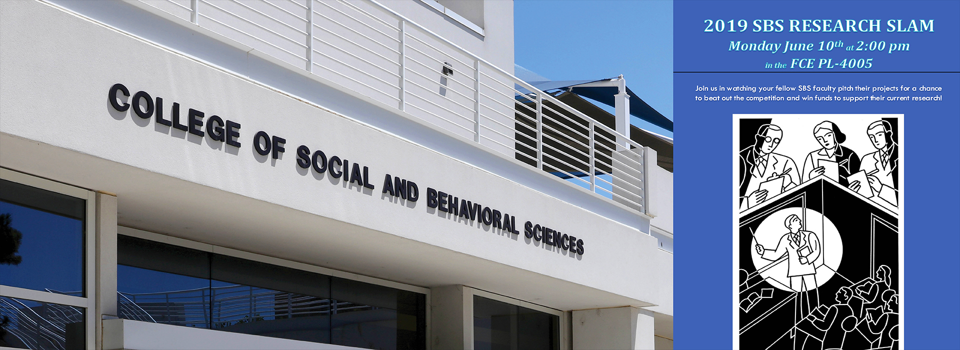 College of Social and Behavioral Sciences faculty to hold 'research slam' on June 10