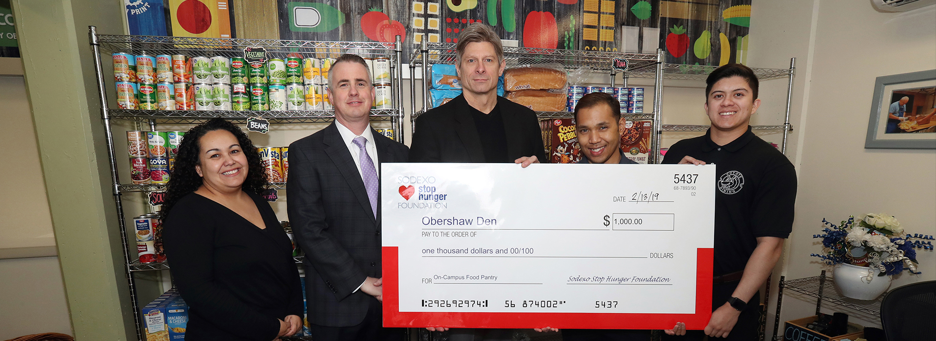 Obershaw DEN receives $1,000 donation