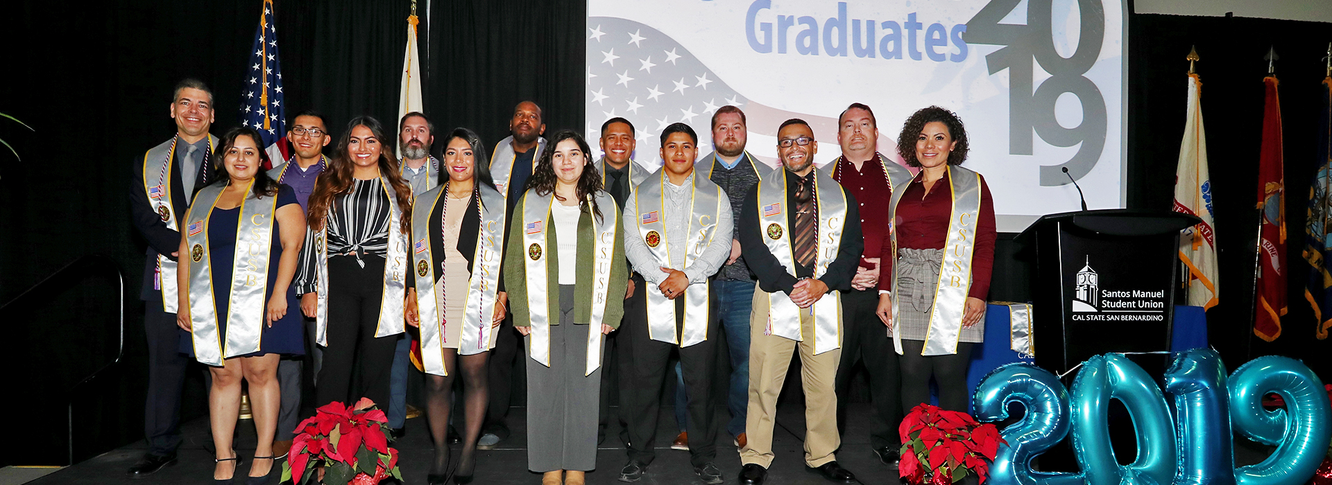 Student veterans receive special stoles for Commencement