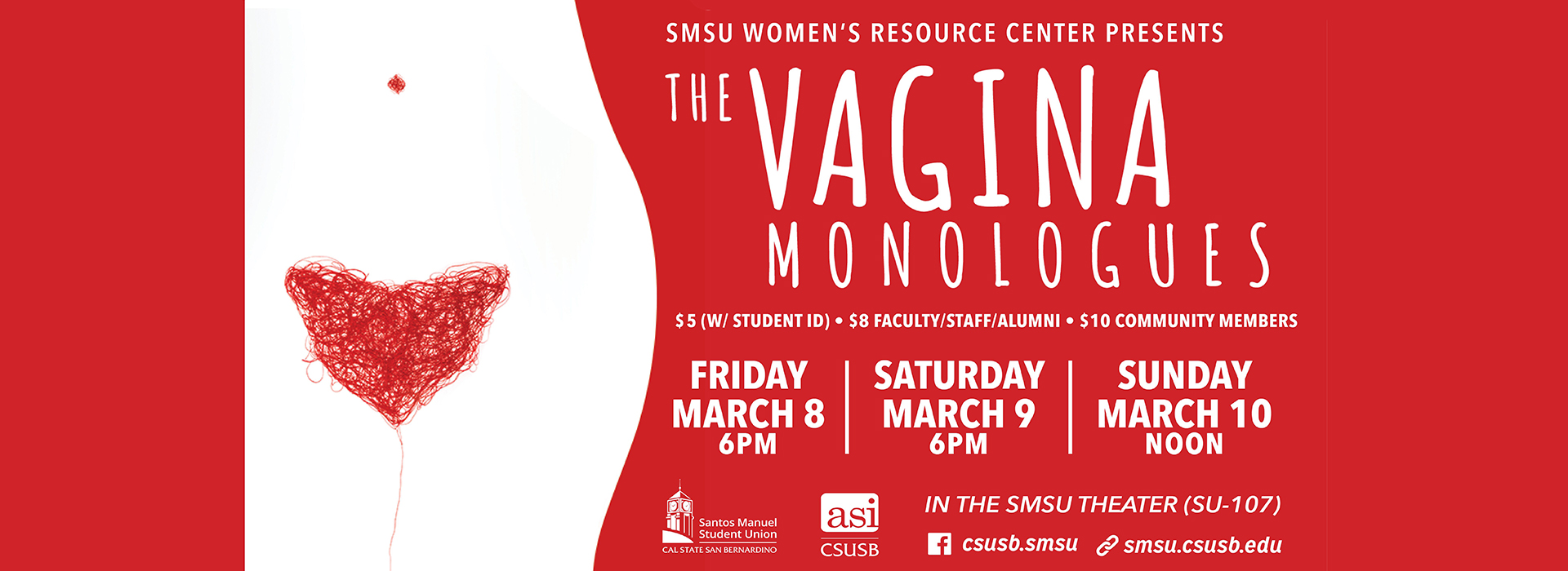 'The Vagina Monologues' to be performed at CSUSB