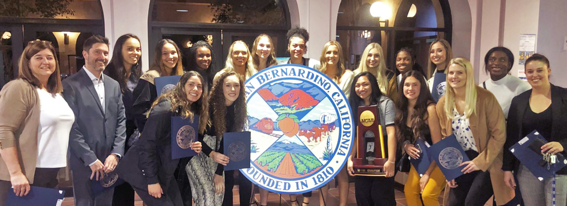 CSUSB's championship volleyball team honored by San Bernardino City Council