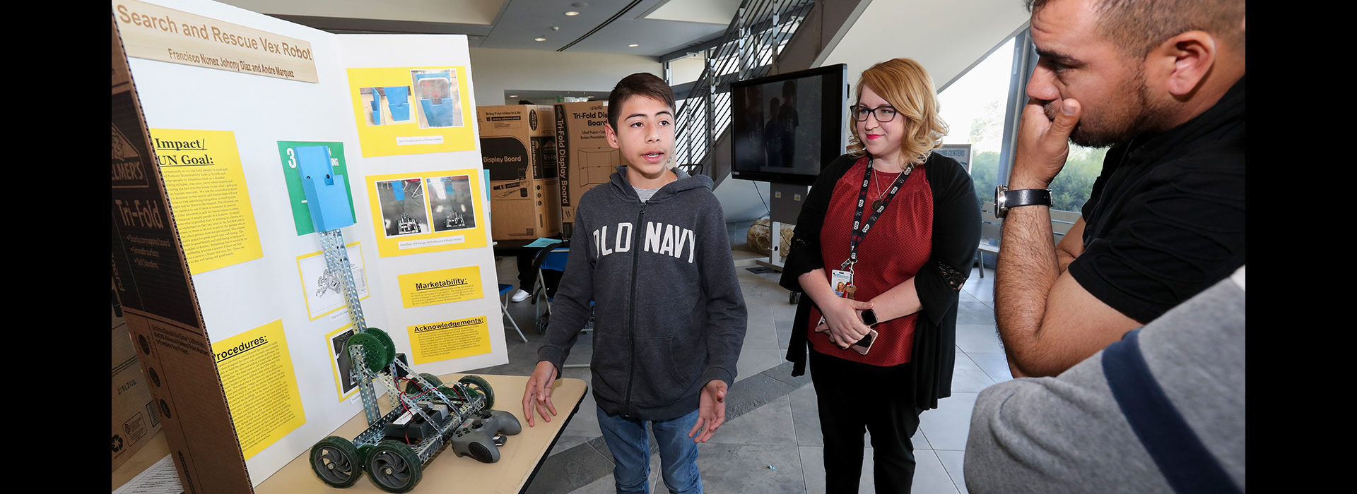 Middle school students present projects as part of third annual Makers Fair, part of the Verizon Innovative Learning Program