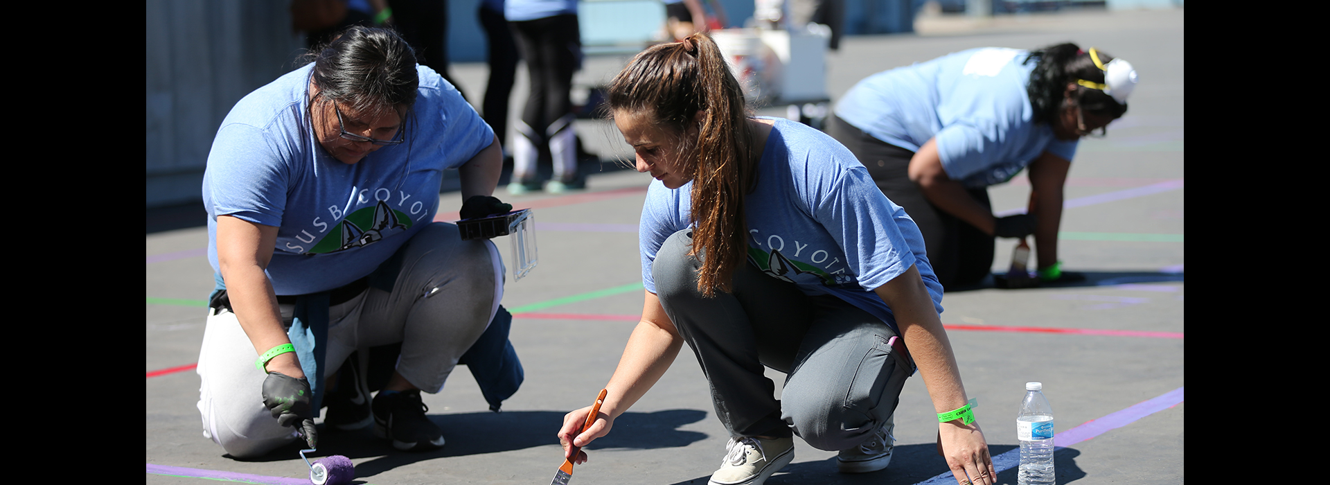 CSUSB volunteers help make 7th annual Coyote Cares Day a success in helping others
