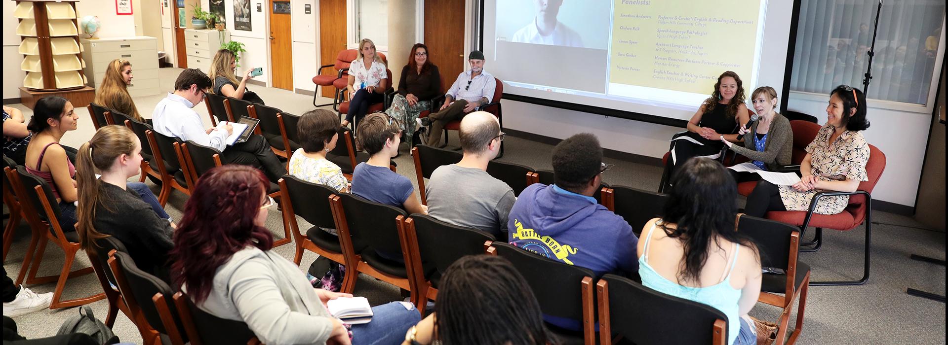 CSUSB English department hosts Strategic Employability in English alumni panel