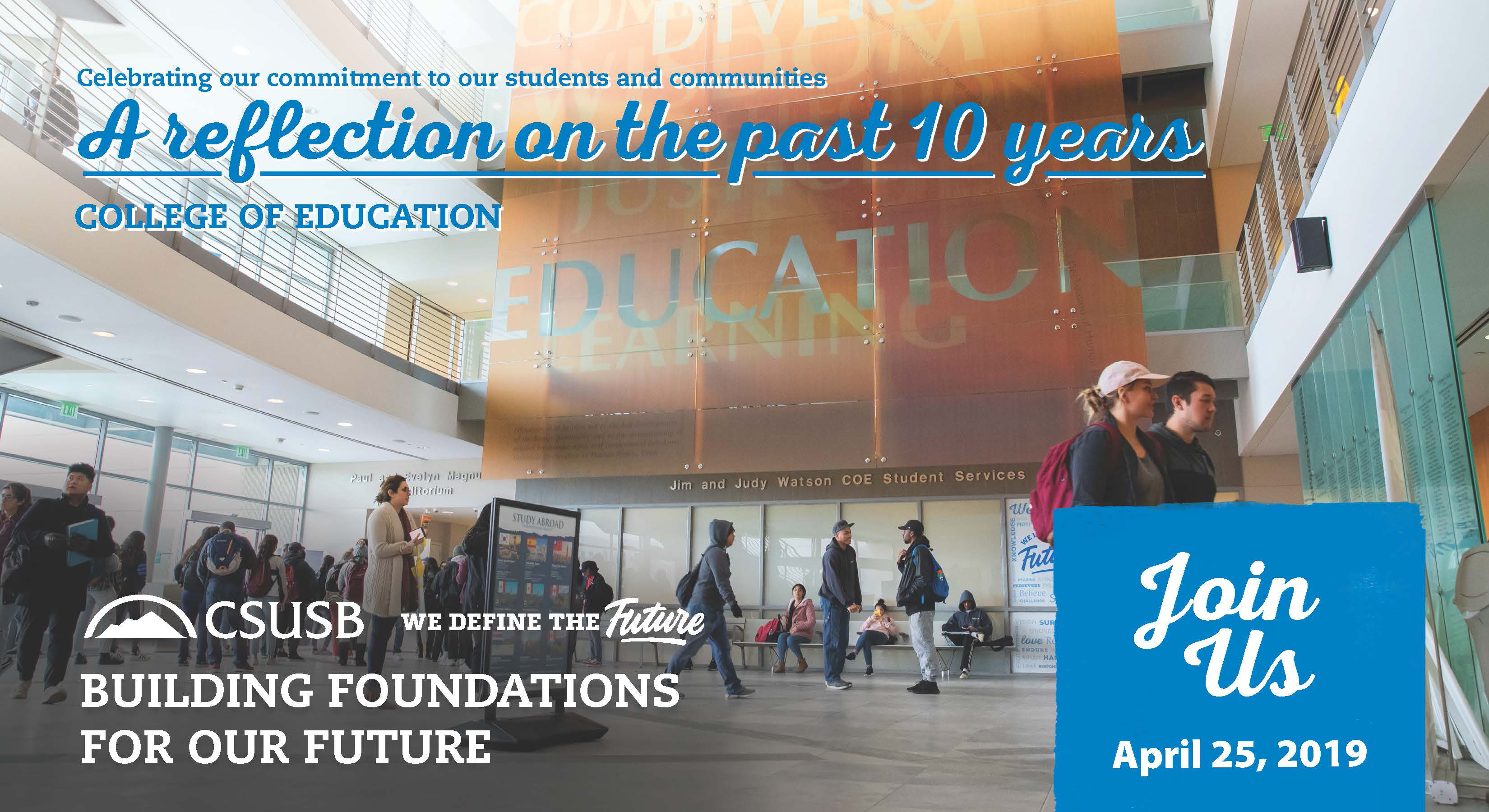 CSUSB College of Education hosts open house on April 25