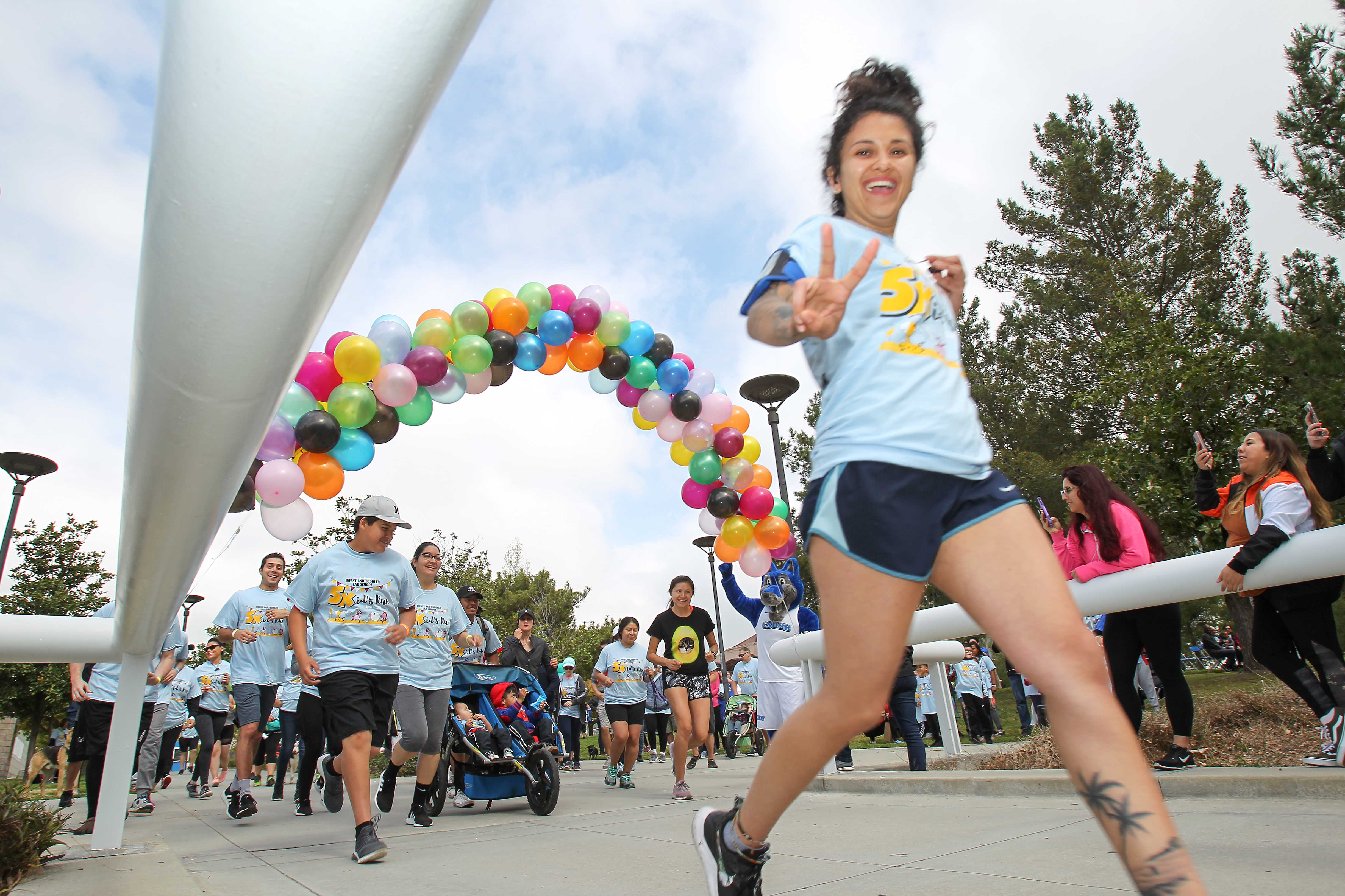 Cal State San Bernardino hosted its second annual 5Kid's Run on April 6 to benefit the university's Infant and Toddler Lab School.