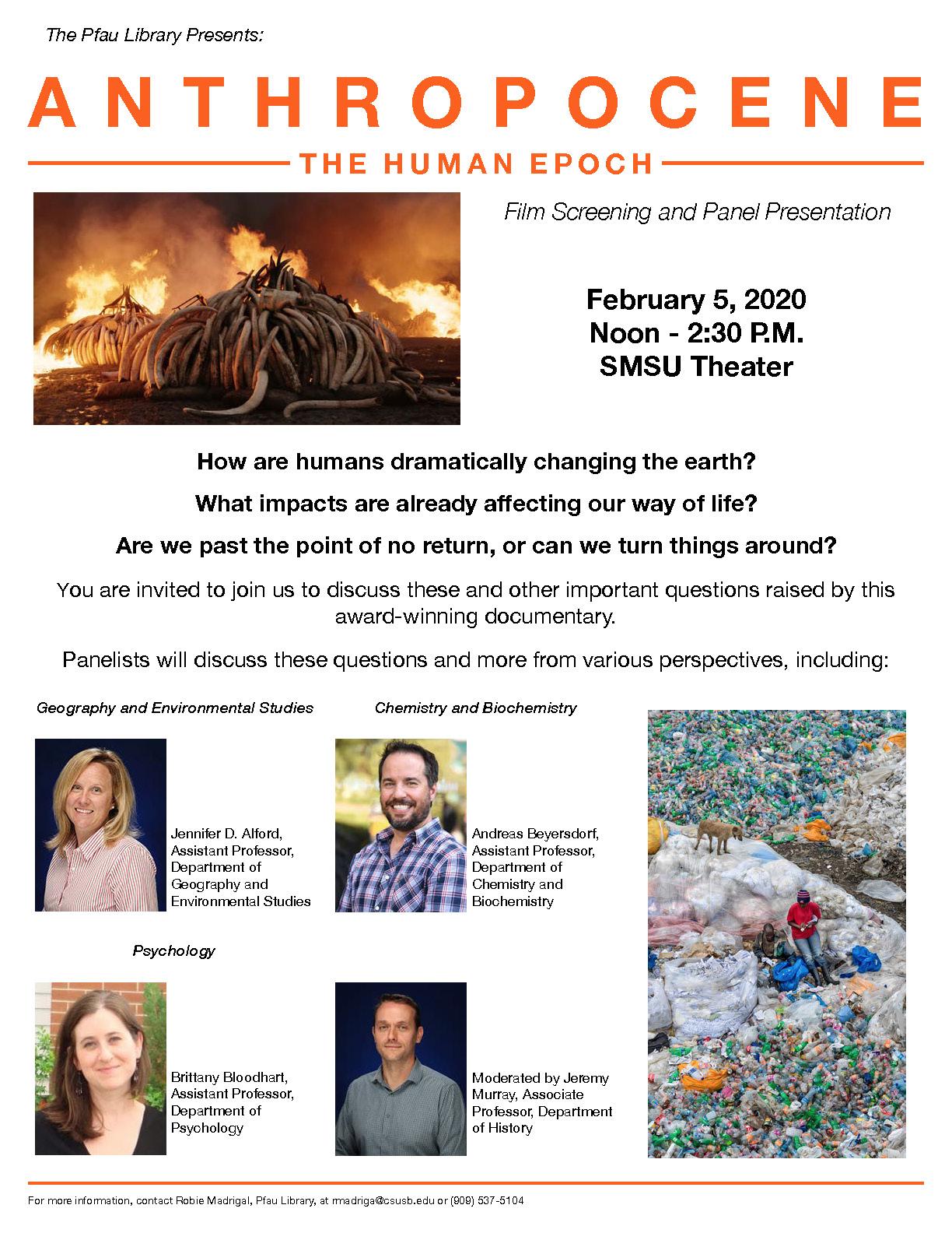 Pfau Library to present award-winning environmental film, 'Anthropocene'