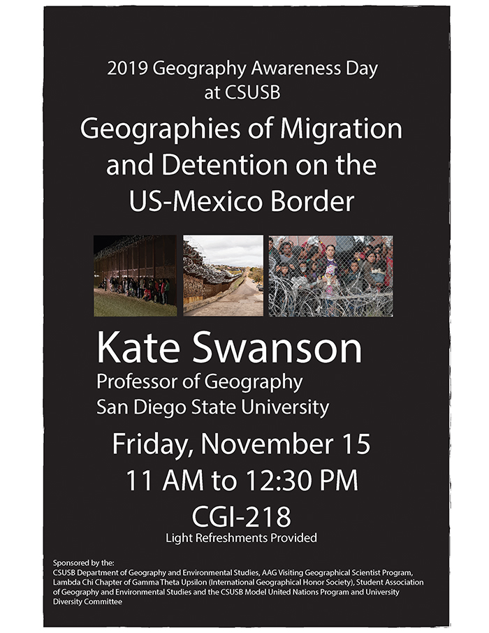 Flier: Migration and detention on the U.S.-Mexico border topic of Nov. 15 presentation