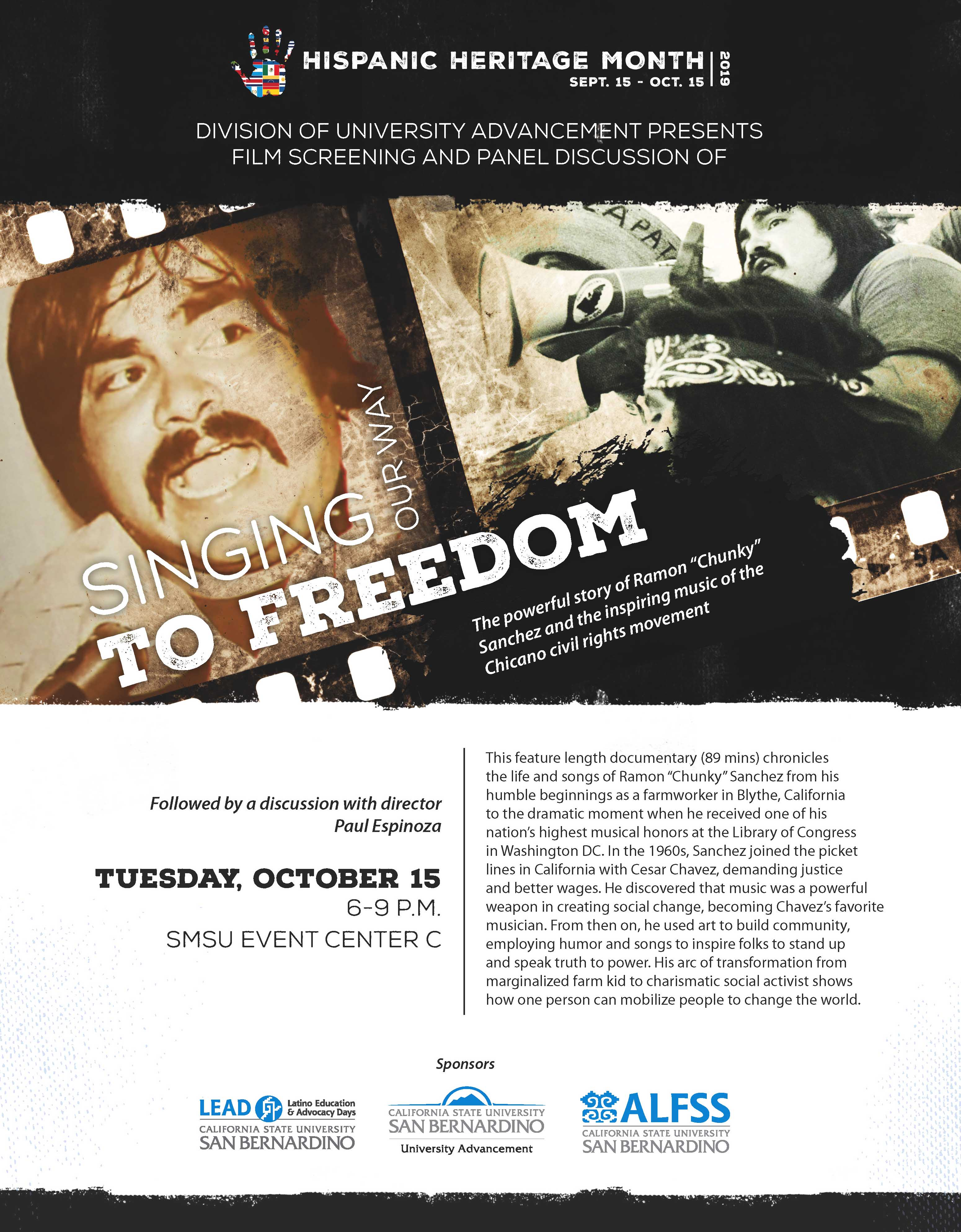 Documentary 'Singing Our Way to Freedom' to be shown Oct. 15 at CSUSB (flier)
