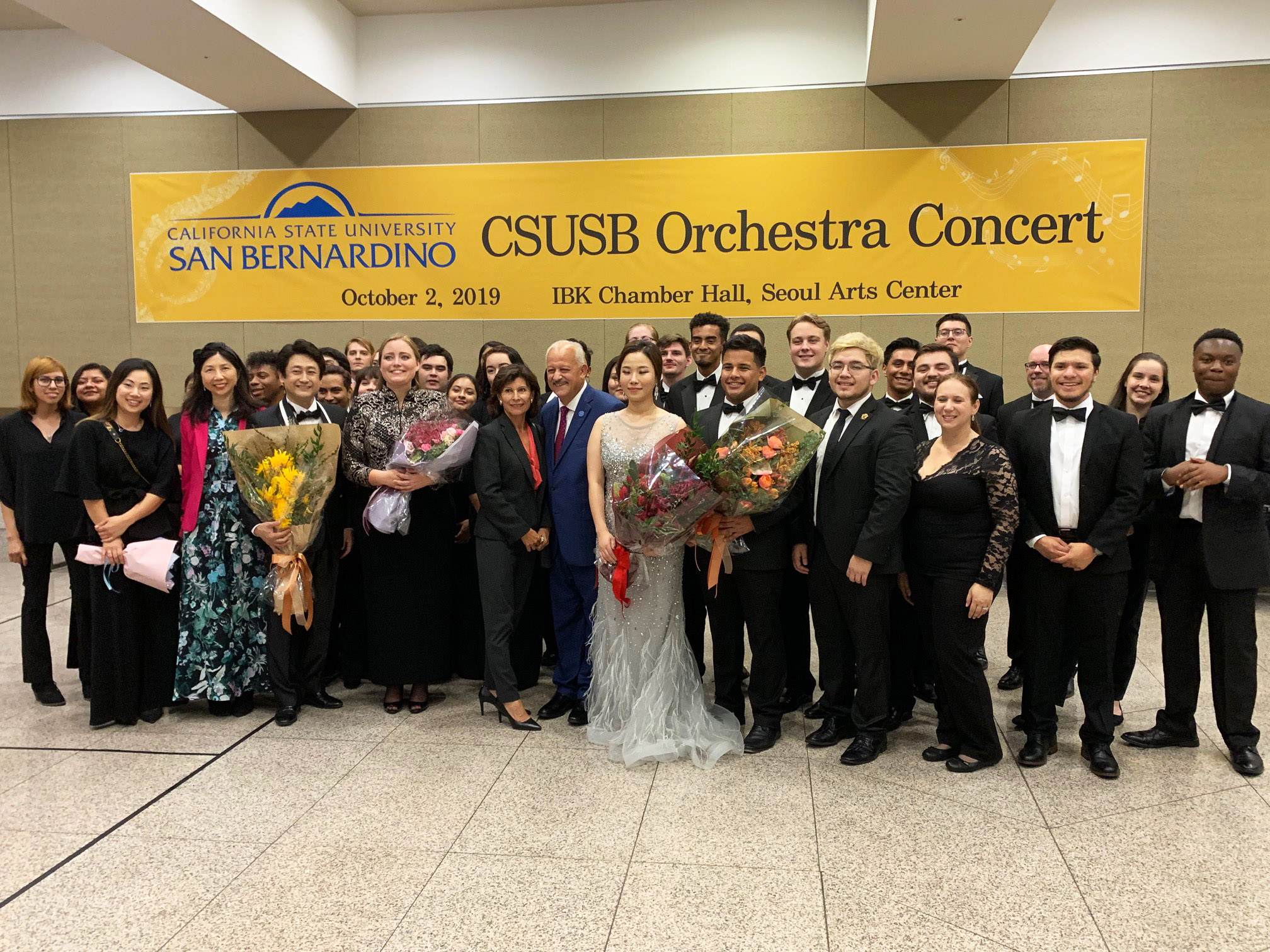 The CSUSB Orchestra Concert was made possible through an endowment and a grant worth $498,000 created by the Korea Foundation