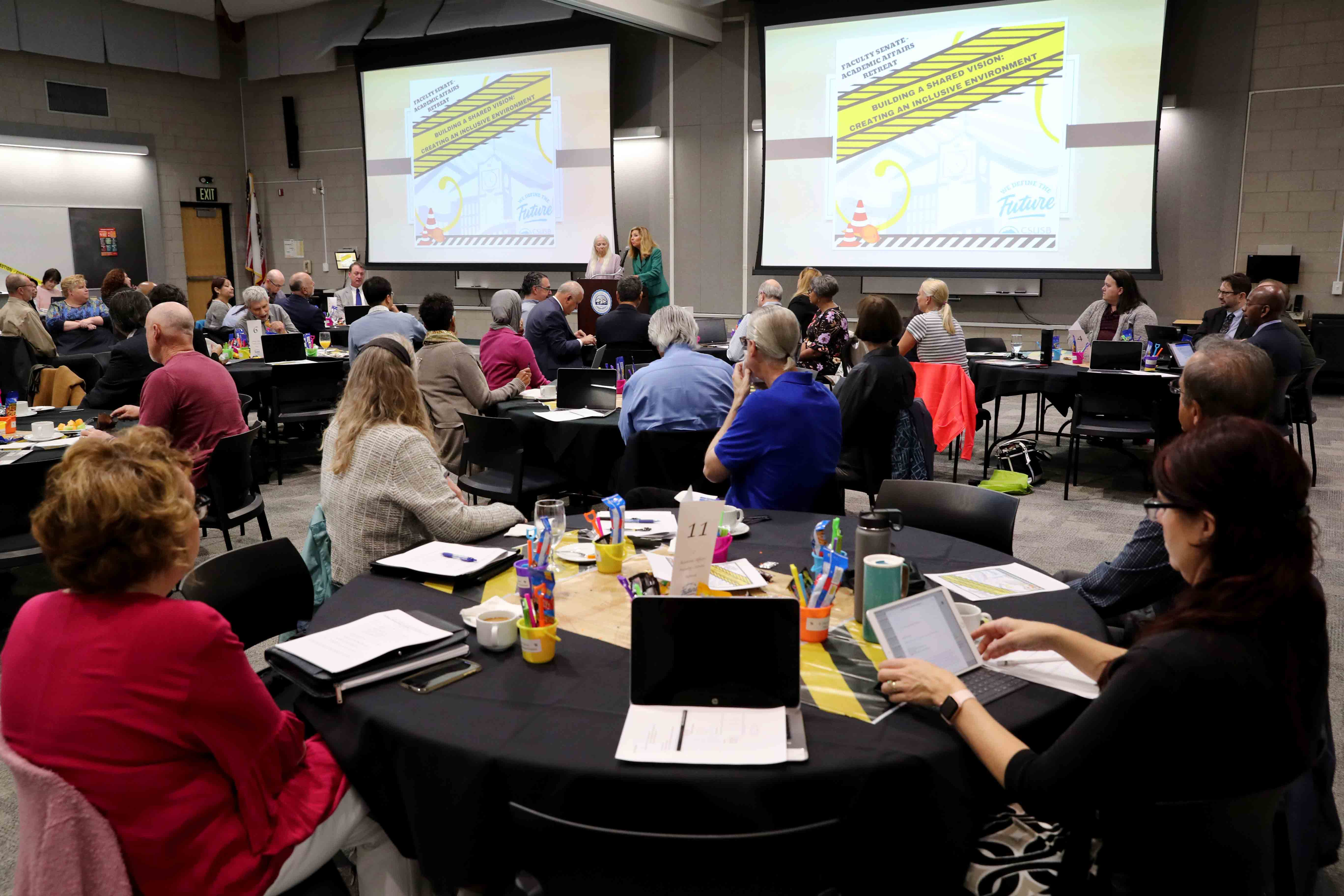 """""""Building a Shared Vision: Creating an Inclusive Environment"""" featured presentations on equity gaps on campus, ways to close the gaps as well as roundtable discussions."""