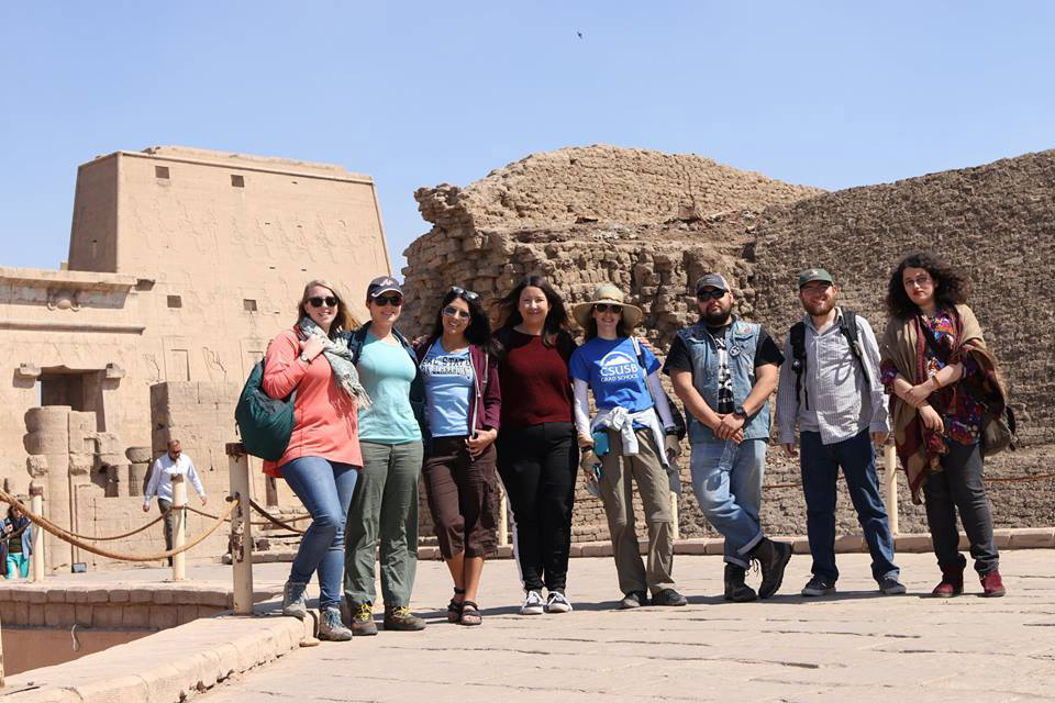 While in Egypt, the group is making 3D models of the archaeological sites and inscriptions, and excavating one of the sites.