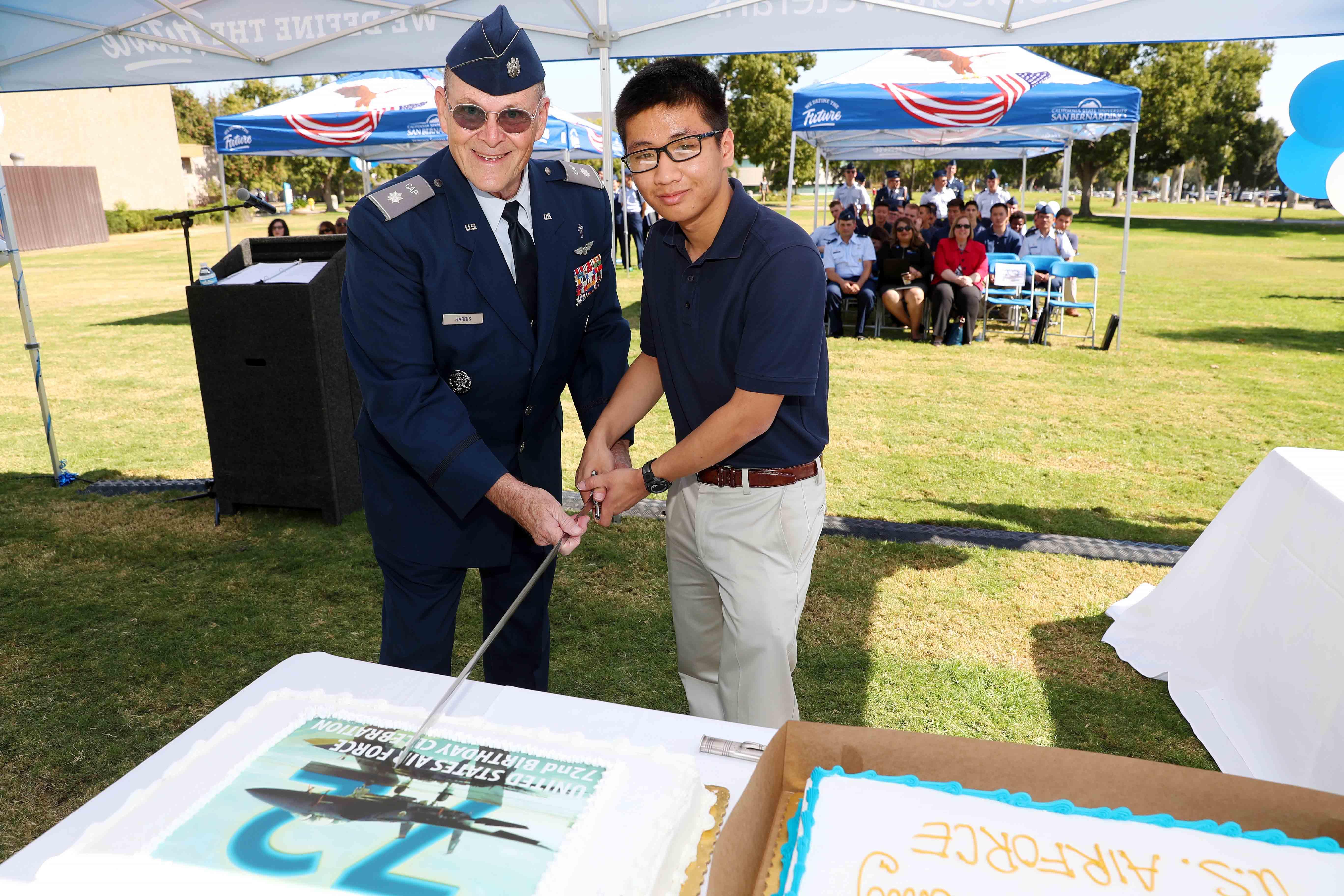 VSC USAF birthday cake cutting