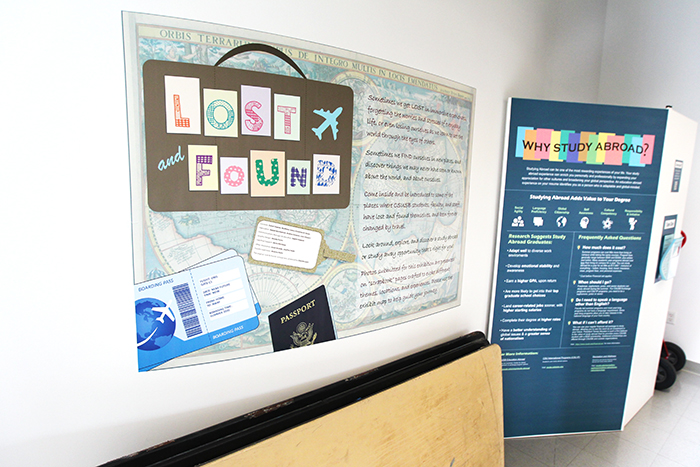 """""""Lost and Found,"""" which places the focus on the value of study-abroad programs, is the current exhibit at the Anthropology Museum at Cal State San Bernardino."""