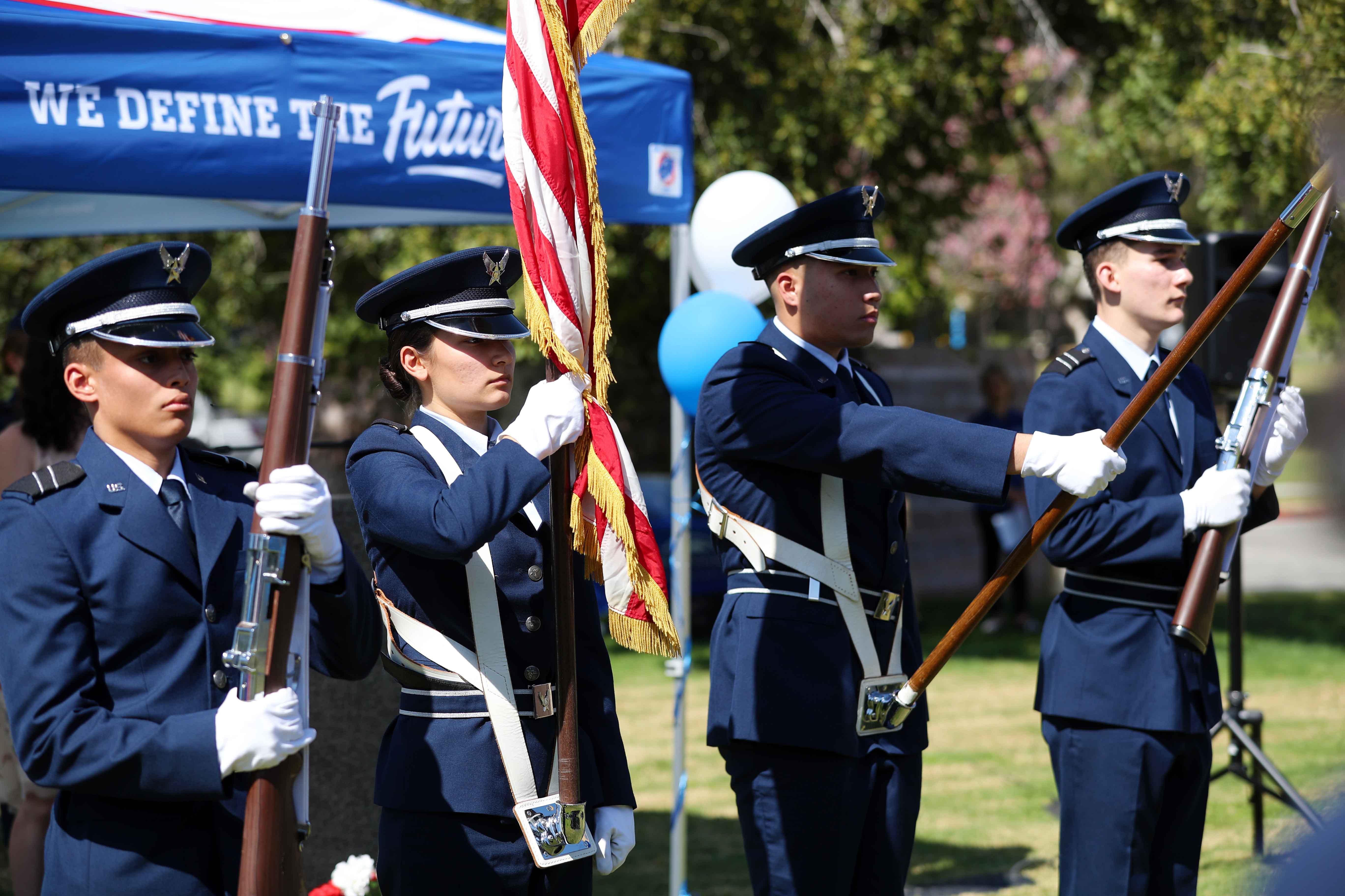 VSC USAF birthday -- color guard