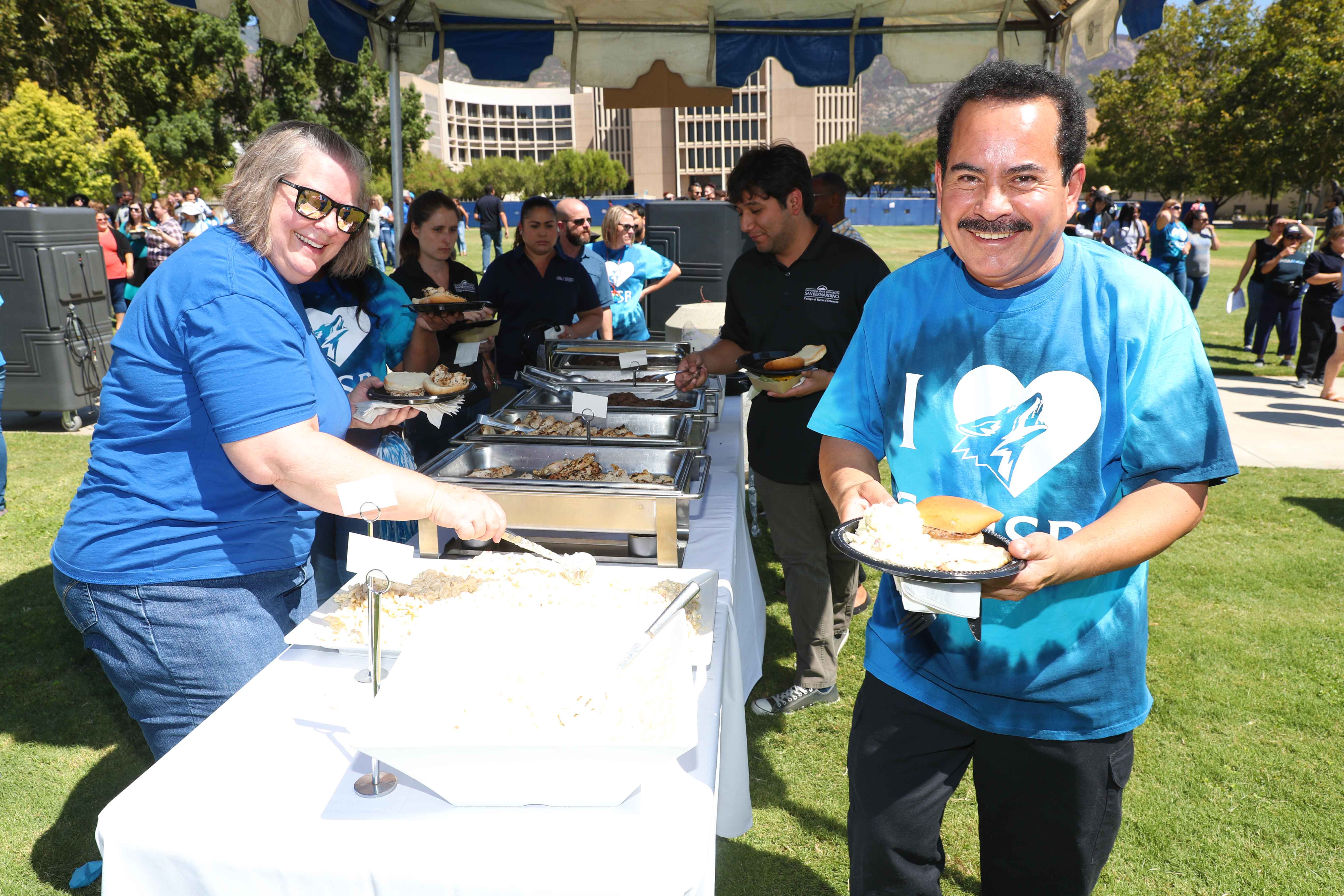 CSUSB employees were treated to lunch at the annual appreciation picnic