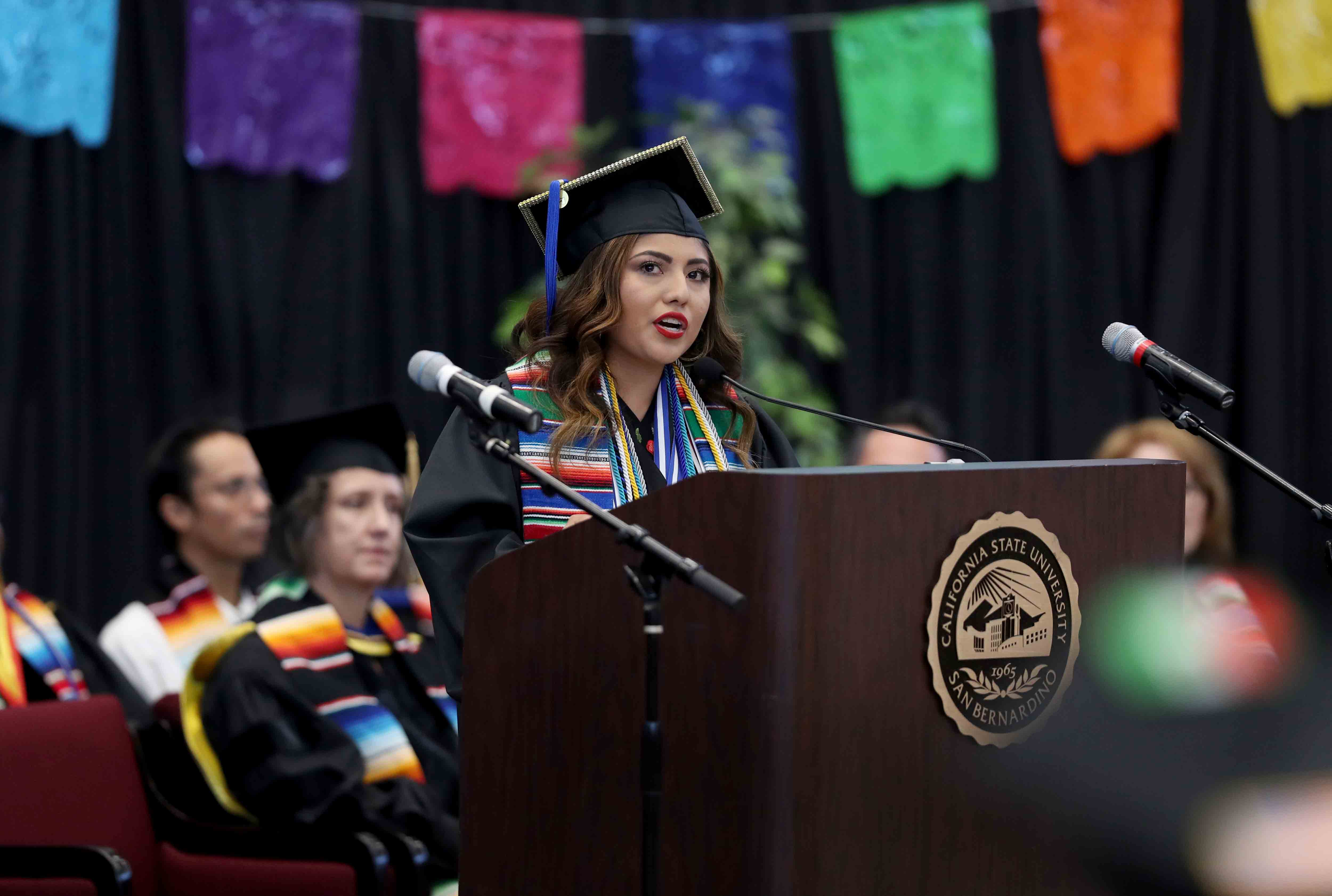 Leticia Herrera Mendez, who will be graduating with a bachelor's degree in sociology.