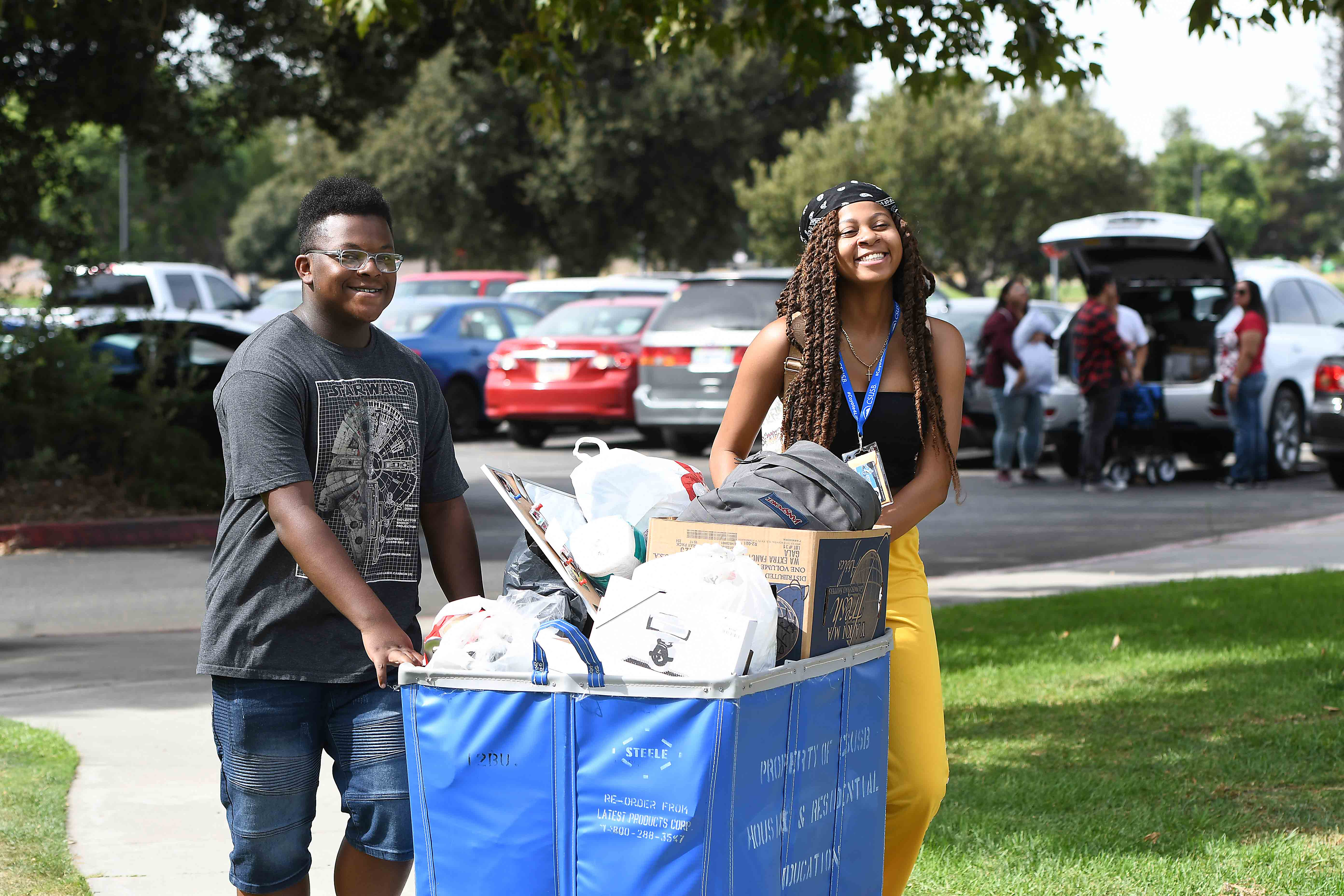 """""""Move-In Day"""" officially kicked off Welcome Week 2019 for students who will make the university's residence halls and apartments their home for the year."""