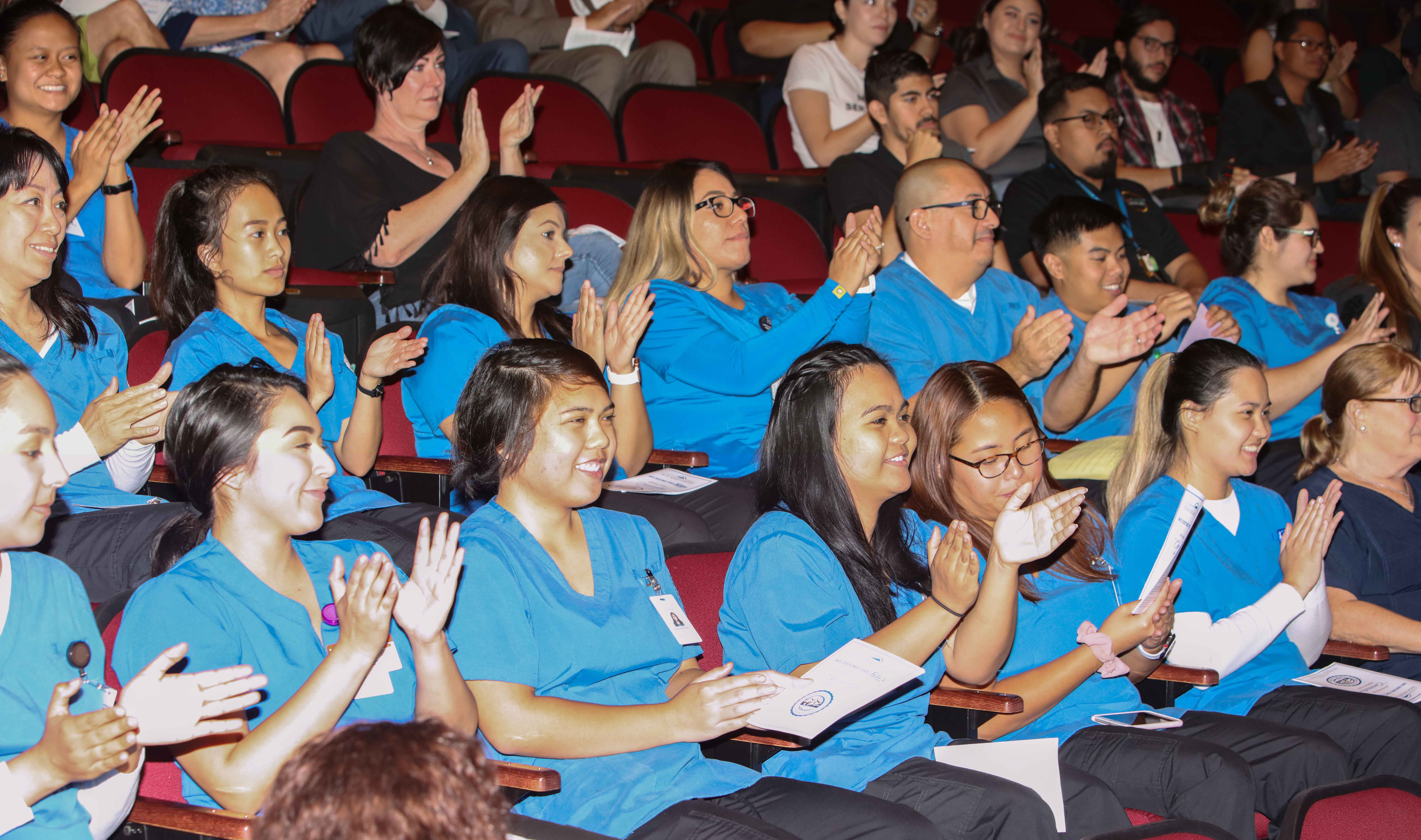New and returning students learned about academic tradition and campus life.
