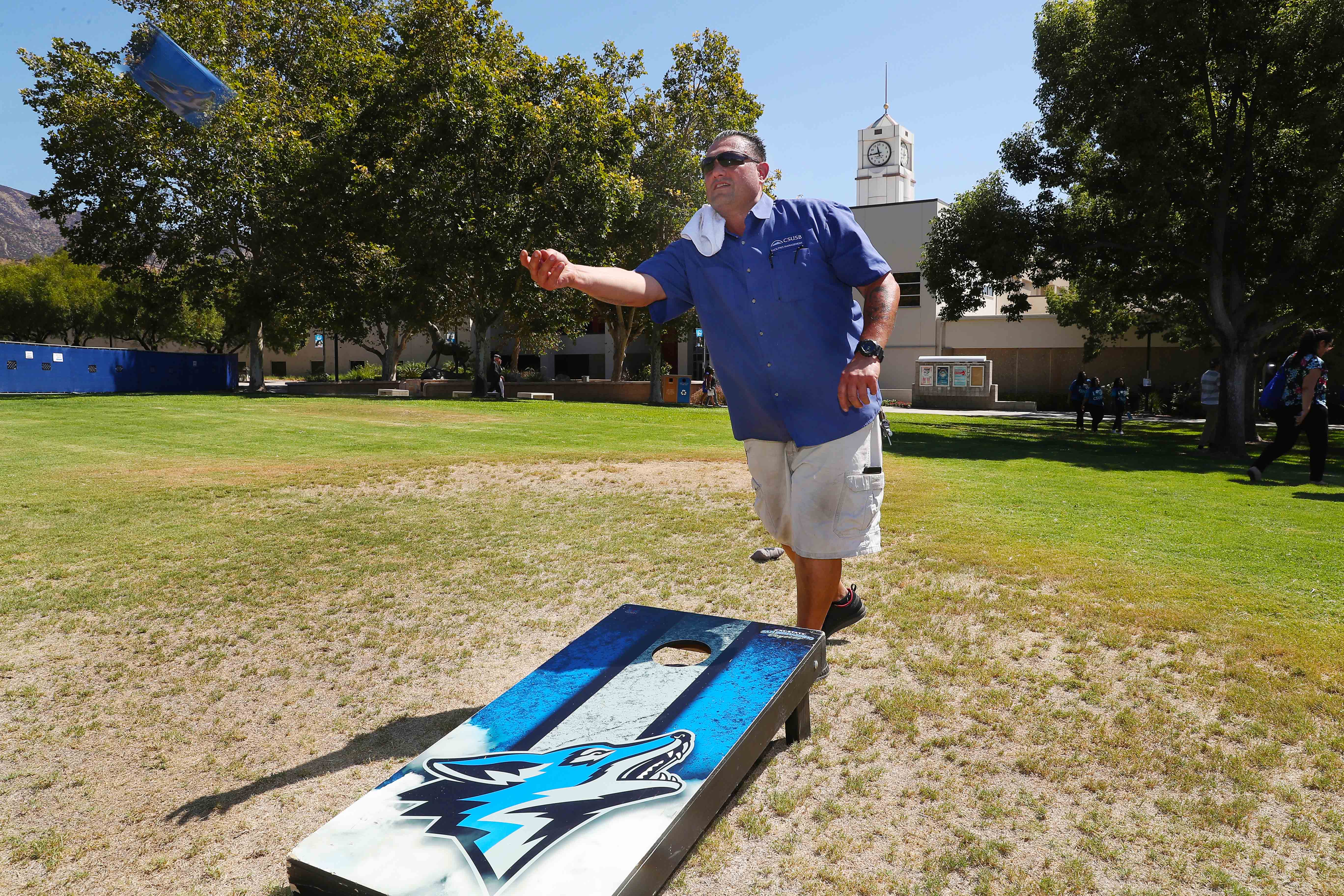 Cal State San Bernardino faculty and staff were treated to lunch, music, games and prizes