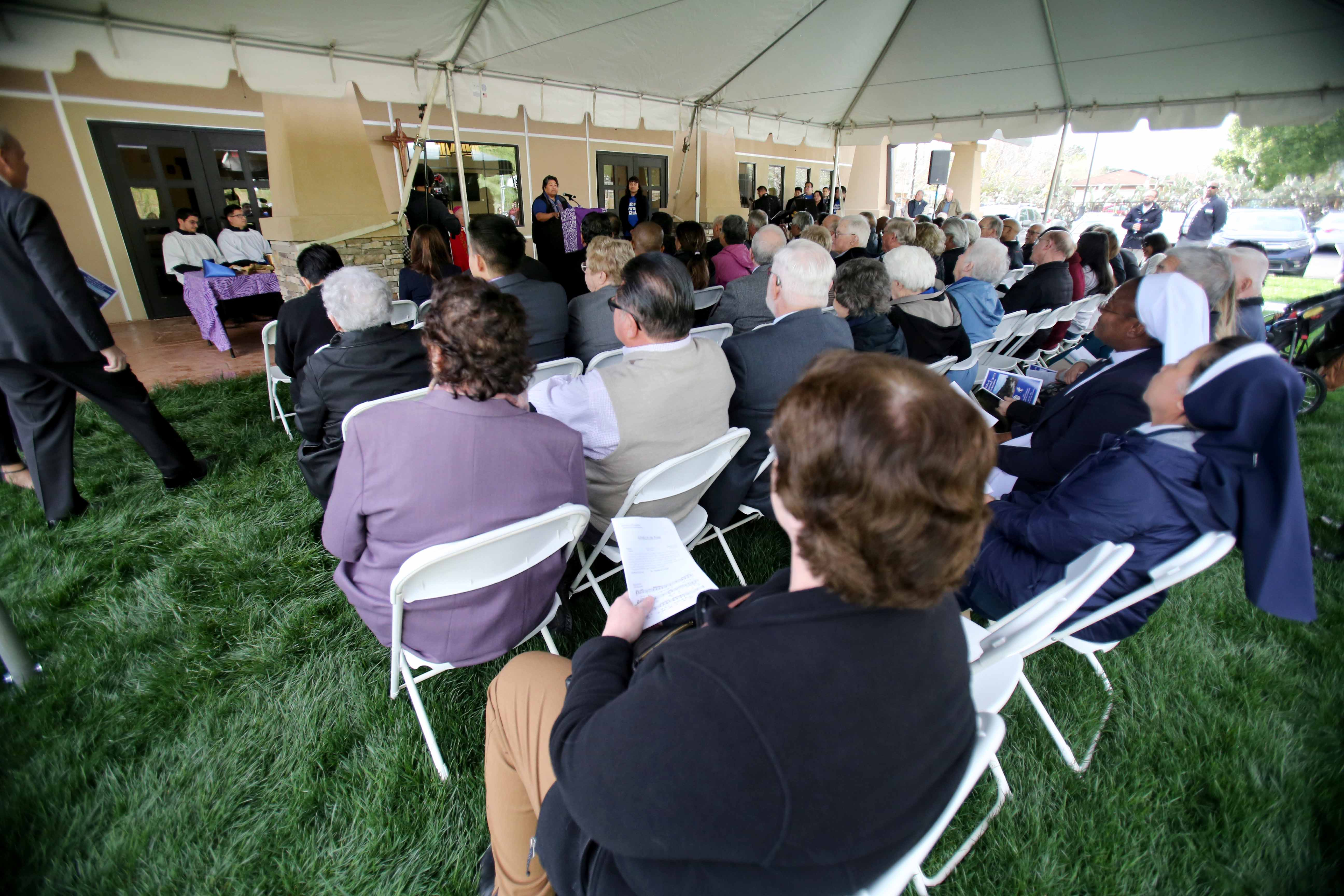 Dedication ceremony held for new Bishop Barnes Newman Center located near CSUSB