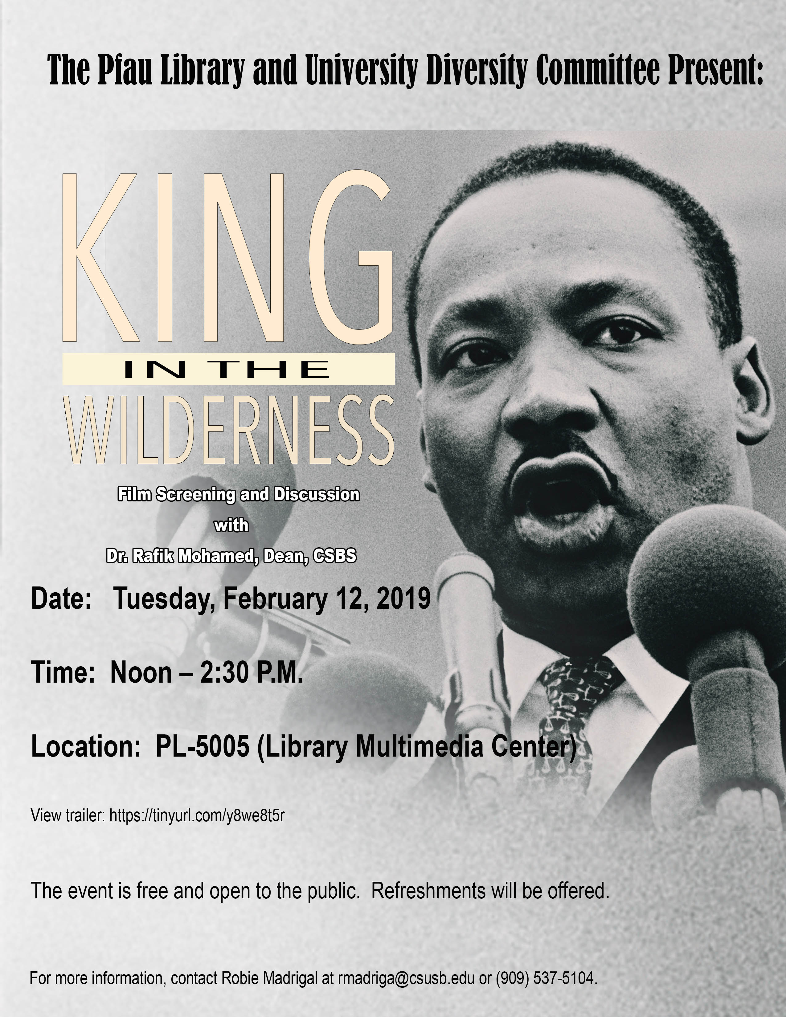 Documentary about Dr. Martin Luther King Jr. to be shown and discussed at Cal State San Bernardino
