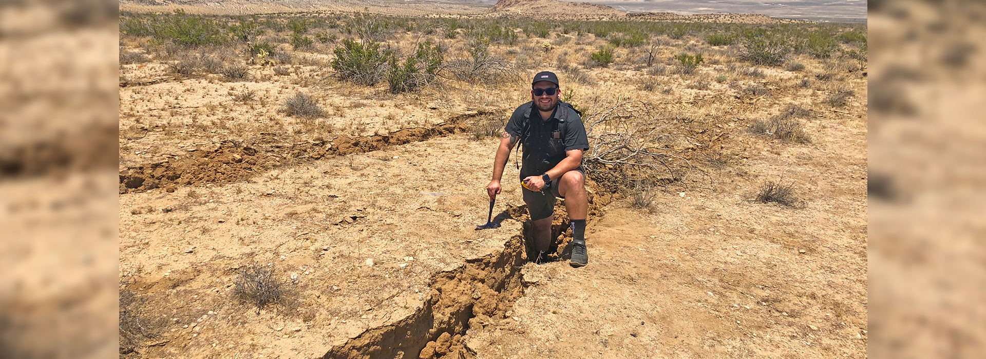 CSUSB geology alumnus gets close up look at what an earthquake can do